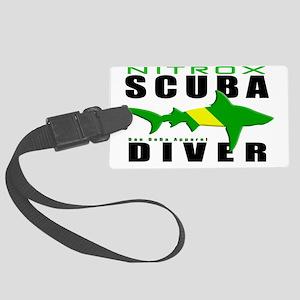 Scuba Diver Shark NITROX 6.5x10  Large Luggage Tag