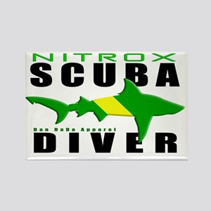 Scuba Diver Shark NITROX 6.5x10 4 Rectangle Magnet