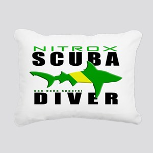 Scuba Diver Shark NITROX Rectangular Canvas Pillow