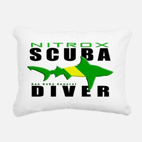 Scuba Diver Shark NITROX Rectangular Canvas Pillow
