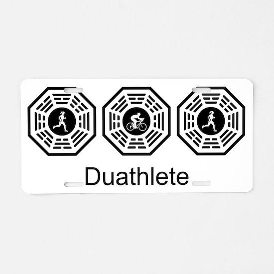 2-Duathlete_women Aluminum License Plate