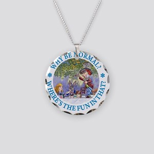 ALICE WHY BE NORMAL_blue cop Necklace Circle Charm