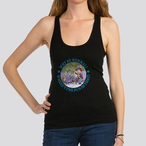 ALICE WHY BE NORMAL_blue copy Racerback Tank Top
