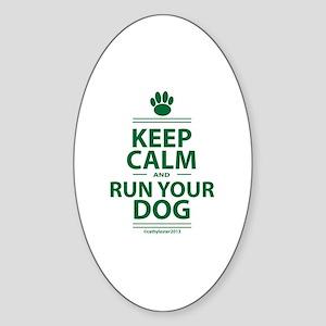 Keep Calm Sticker (Oval)
