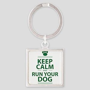 Keep Calm Square Keychain
