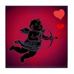 Valentine's Day Cupid Tile Coaster