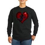 Cupid Love Hearts Long Sleeve Dark Shirt Valentine