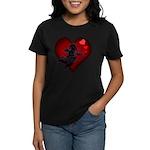 Valentine's Women's Dark T-Shirt Cupid Love Gifts