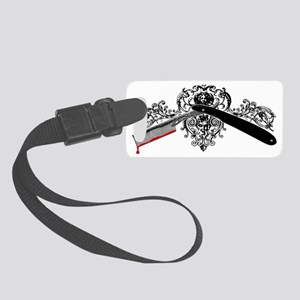 mad-barber_short Small Luggage Tag