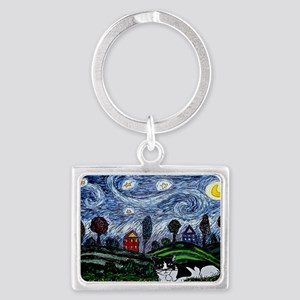 thinking of stars large poster Landscape Keychain