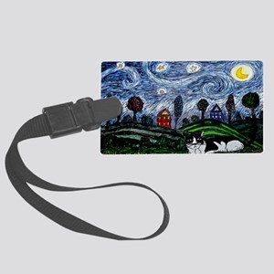 thinking of stars large poster Large Luggage Tag