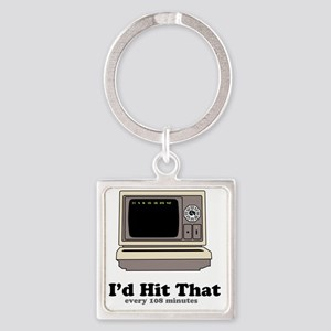 Id Hit That Square Keychain