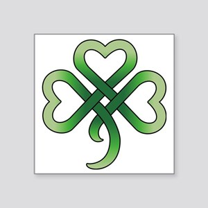 "celtic clover Square Sticker 3"" x 3"""