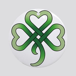 celtic clover Round Ornament
