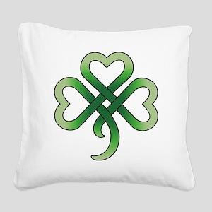 celtic clover Square Canvas Pillow