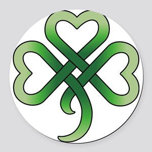 celtic clover Round Car Magnet