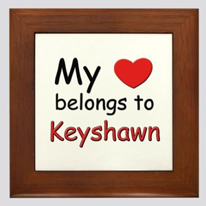My heart belongs to keyshawn Framed Tile