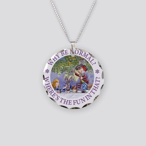 ALICE WHY BE NORMAL_purple c Necklace Circle Charm