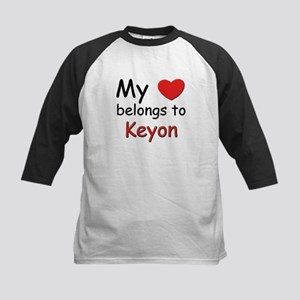 My heart belongs to keyon Kids Baseball Jersey