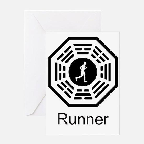 2-Running_men Greeting Card