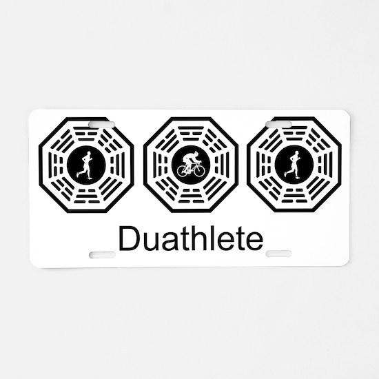 2-Duathlete_men Aluminum License Plate