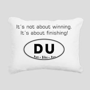 duathlon copy Rectangular Canvas Pillow