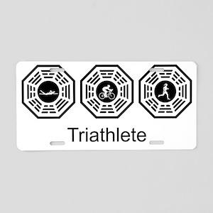 2-Triathlete_women Aluminum License Plate