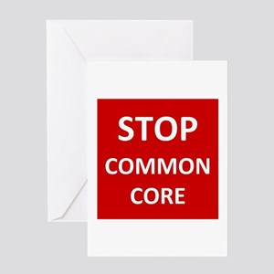 Stop Common Core Greeting Cards