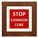 Stop Common Core Framed Tile