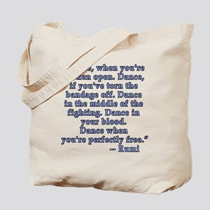 RUMI  Quote about Dance Tote Bag