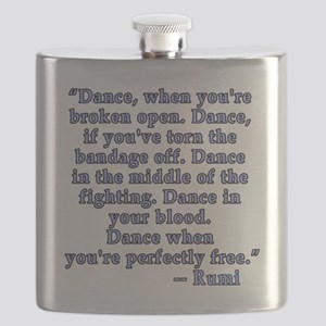 RUMI  Quote about Dance Flask