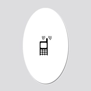 cellphone_ring 20x12 Oval Wall Decal
