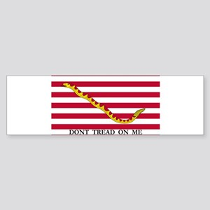 navy jack dont tread on me red real 2 Bumper Stick