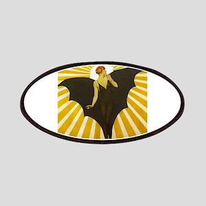 Art Deco Bat Lady Pin Up Flapper Patches