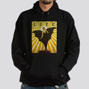Art Deco Bat Lady Pin Up Flapper Hoodie