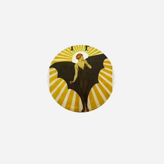 Art Deco Bat Lady Pin Up Flapper Mini Button