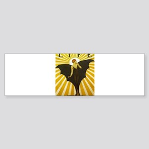 Art Deco Bat Lady Pin Up Flapper Bumper Sticker