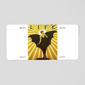 Art Deco Bat Lady Pin Up Flapper Aluminum License