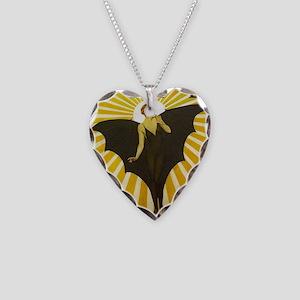 Art Deco Bat Lady Pin Up Flapper Necklace