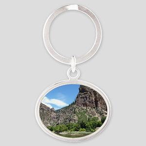 Glenwood Springs Canyon Colorado Pho Oval Keychain