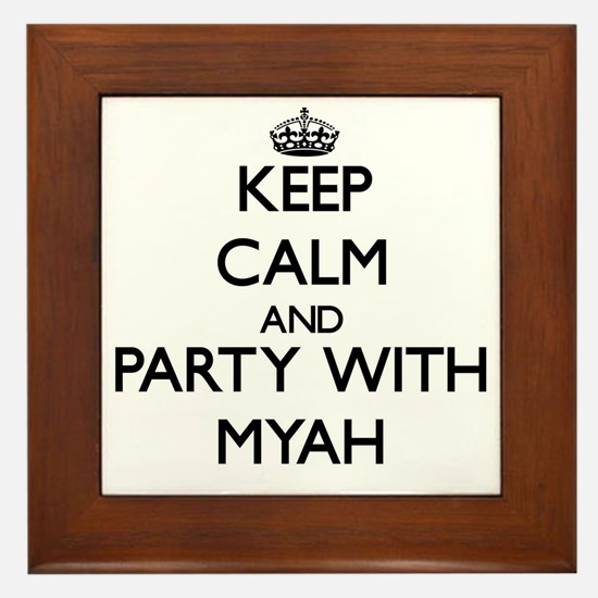 Keep Calm and Party with Myah Framed Tile