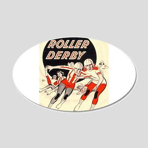 Roller Derby Advertisemnt Image Retro Derby Girl W