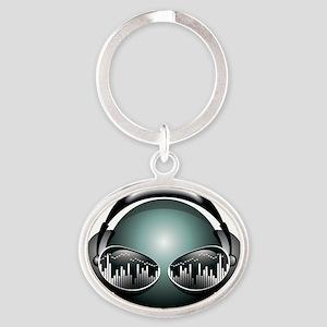 dj4 Oval Keychain