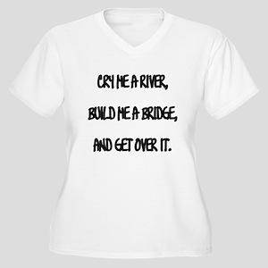 Cry Me a River Women's Plus Size V-Neck T-Shirt