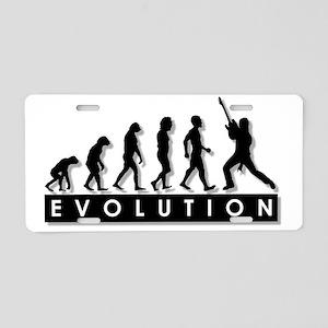 2-evolution-rock star-- Aluminum License Plate