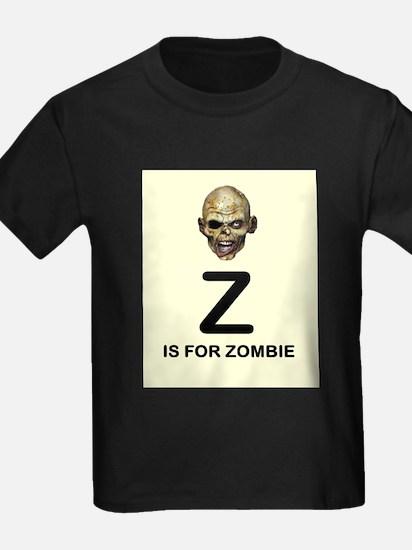 Z is for Zombie Childrens Alphabet Illustration T-