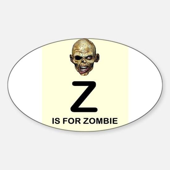 Z is for Zombie Childrens Alphabet Illustration St