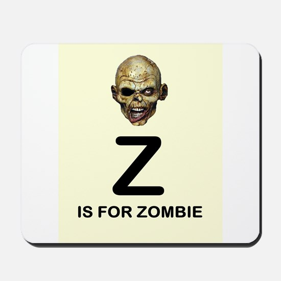 Z is for Zombie Childrens Alphabet Illustration Mo