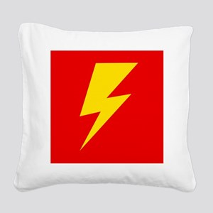 The Flash Lightning Bolt Square Canvas Pillow