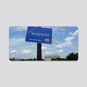 Welcome to Washington D.C.  Aluminum License Plate
